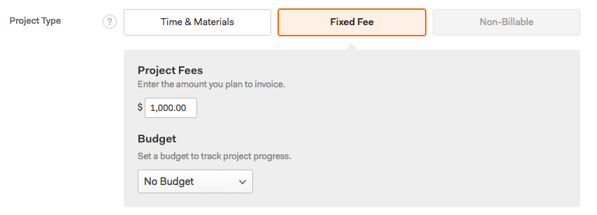 Fixed Fee Project Fees