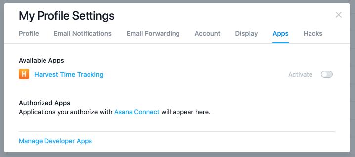 My Profile Settings in Asana